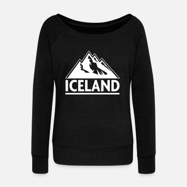 Iceland Iceland Mountain - Women's Wide-Neck Sweatshirt