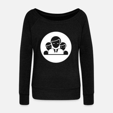 Icon Team Stock Icons - Women's Wide-Neck Sweatshirt
