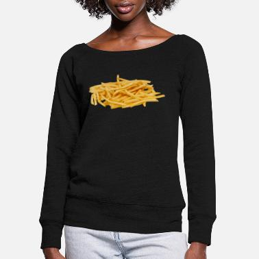 French Roast French fries - Women's Wide-Neck Sweatshirt