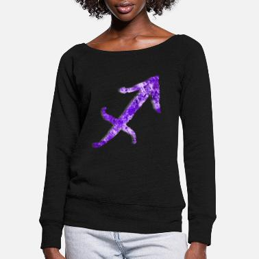 Astrology Sagittarius Astrological Sign [3] Persephone Pdtns - Women's Wide-Neck Sweatshirt
