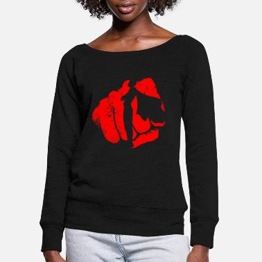 Punch Punch - Women's Wide-Neck Sweatshirt