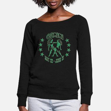 Gemini S GEMINI ZODIAC - Women's Wide-Neck Sweatshirt