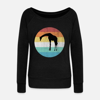 Cape Town Giraffe - Women's Wideneck Sweatshirt