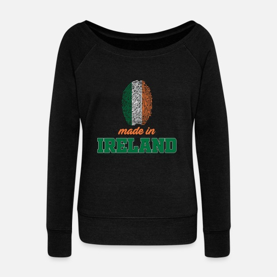 Country Hoodies & Sweatshirts - Ireland - Women's Wide-Neck Sweatshirt black