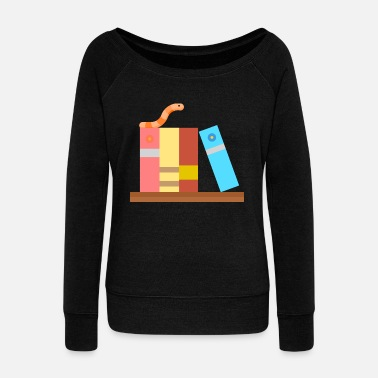 Bookworm bookworm - Women's Wideneck Sweatshirt