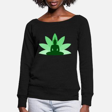 Shiva Budda - Women's Wide-Neck Sweatshirt