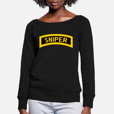 Sniper Tab Sniper - Women's Wide-Neck Sweatshirt