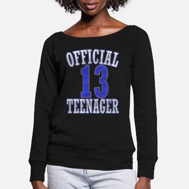 Official Teenager Boys Official Teenager for Boy - Women's Wide-Neck Sweatshirt