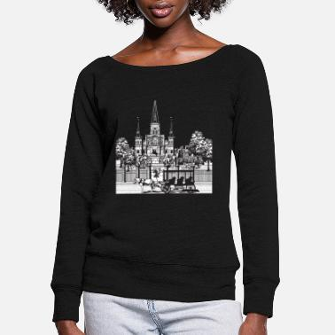 New Orleans - Women's Wide-Neck Sweatshirt