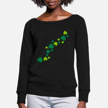 Shamrock Shamrocks - Women's Wide-Neck Sweatshirt