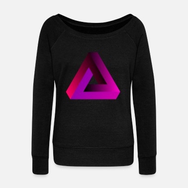 Gradient pink geometric - Women's Wideneck Sweatshirt
