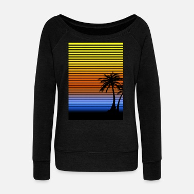 Sunset - Women's Wideneck Sweatshirt