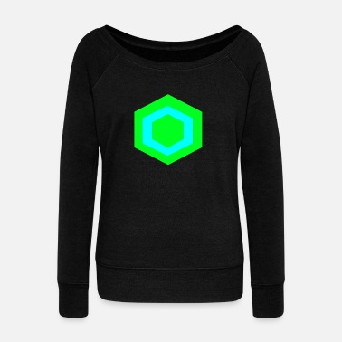 Hexagon hexagon - Women's Wideneck Sweatshirt