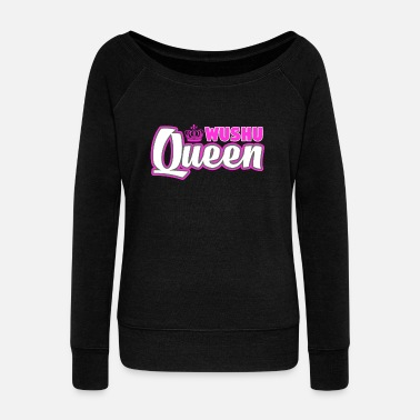 Master Wushu Queen Cute Martial Arts Training - Women's Wideneck Sweatshirt
