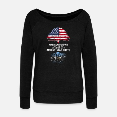 Province American Grown With Argentina Roots - Women's Wideneck Sweatshirt