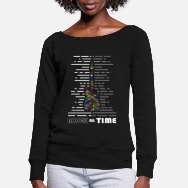 Rock all Time colorful - Women's Wide-Neck Sweatshirt