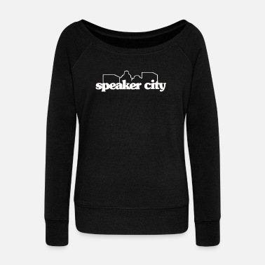 Speaker Speaker City - Women's Wideneck Sweatshirt