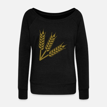Wheat Wheat - Women's Wide-Neck Sweatshirt