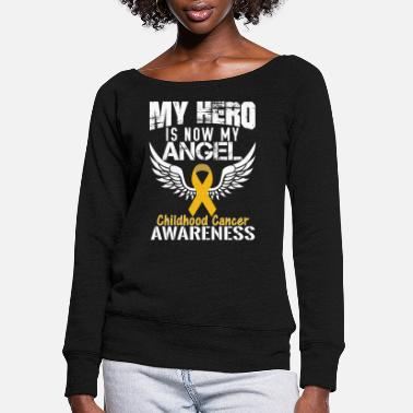 Childhood Childhood Cancer Awareness - Women's Wide-Neck Sweatshirt