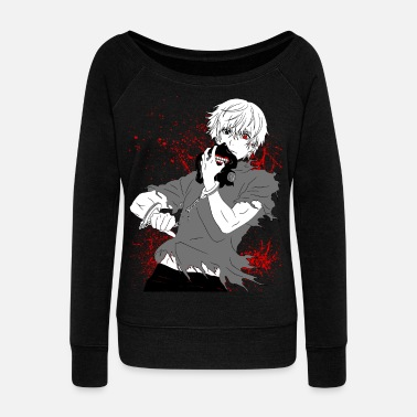 Tokyo Tokyo Ghoul - Kaneki's Redemption (Black Version) - Women's Wideneck Sweatshirt