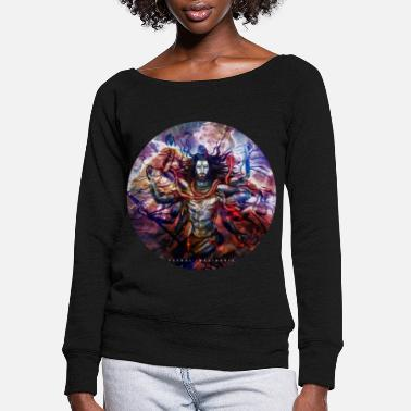 Shiva Abstract - Women's Wide-Neck Sweatshirt