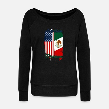 New York City Half USA Half Mexican - Women's Wideneck Sweatshirt