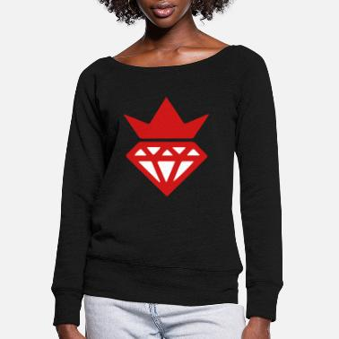 Swag SWAG CROWN - Women's Wide-Neck Sweatshirt