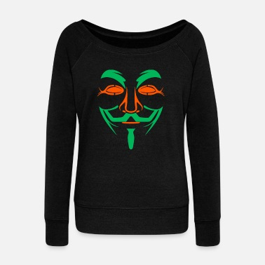 Masked Mask - Mask - Women's Wideneck Sweatshirt