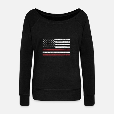 Baltic Sea Latvia America Flag Gift Baltic Sea - Women's Wideneck Sweatshirt