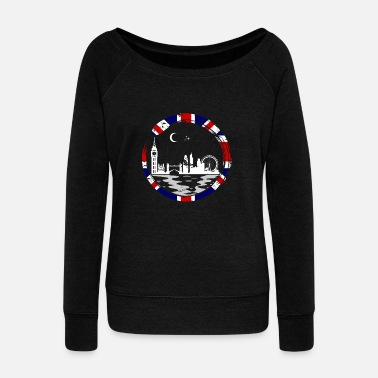 Liverpool London Lover Gift Christmas Birthday England - Women's Wideneck Sweatshirt