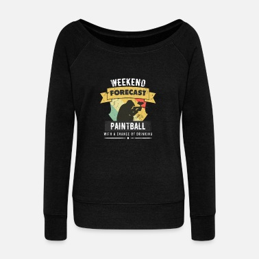 Paintball Paintball - Women's Wideneck Sweatshirt