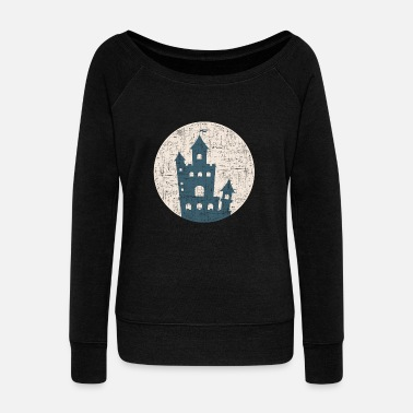 Castle lock gift prince Castle king - Women's Wideneck Sweatshirt