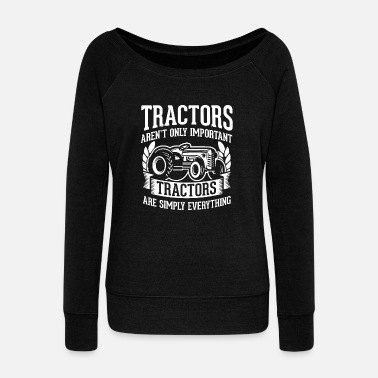 Cattle Tractor Shirt - Agriculture - everything - Women's Wideneck Sweatshirt