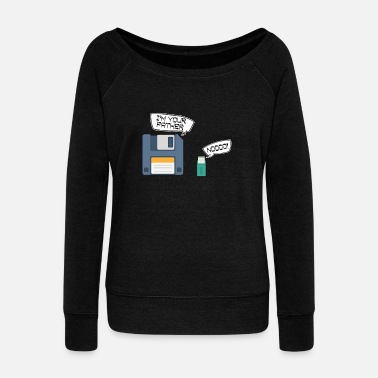 Usb Drive Floppy Disk USB Drive I Am Your Father - Women's Wide-Neck Sweatshirt