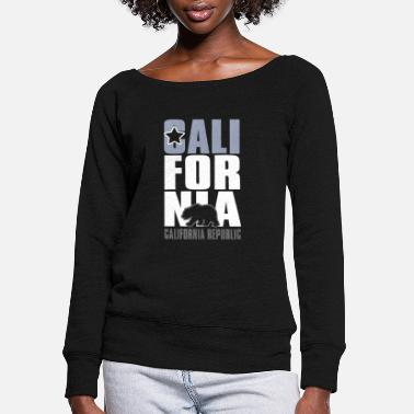 California CALIFORNIA REPUBLIC - Women's Wide-Neck Sweatshirt