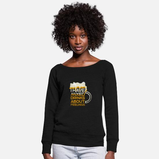 Gift Idea Hoodies & Sweatshirts - Party Beer Beer Booze Festival Bar - Women's Wide-Neck Sweatshirt black