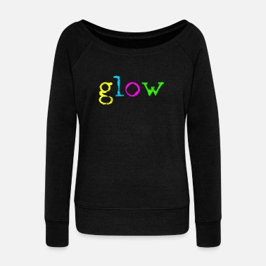 Colors Glow Party - Women's Wide-Neck Sweatshirt