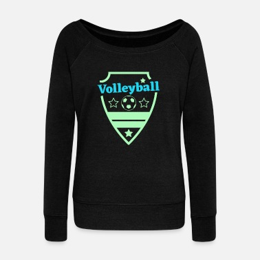 Strange Volleyball, Gift, Gift Idea - Women's Wide-Neck Sweatshirt