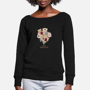 Bouquet of roses - Women's Wide-Neck Sweatshirt