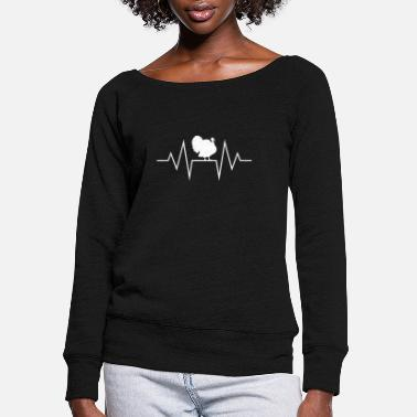 Turkey Turkey Turkey Turkey hen Turkey hen - Women's Wide-Neck Sweatshirt