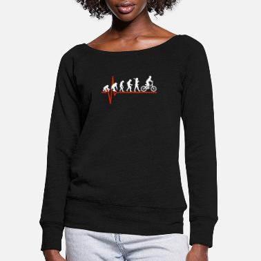 Heartbeat Backpacking Heartbeat - EVOLUTION OF BACKPACKING - Women's Wide-Neck Sweatshirt