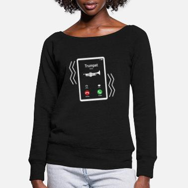 Mobile Trumpet Mobile is Calling Mobile - Women's Wide-Neck Sweatshirt