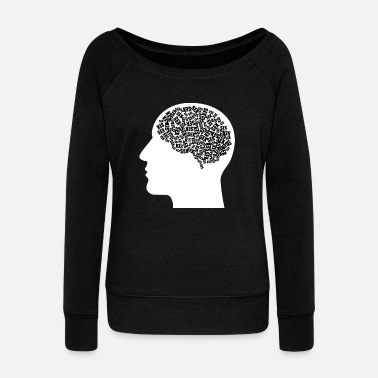Brain sex brain man men penis - Women's Wideneck Sweatshirt