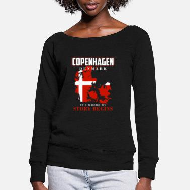 Denmark Denmark - Women's Wide-Neck Sweatshirt