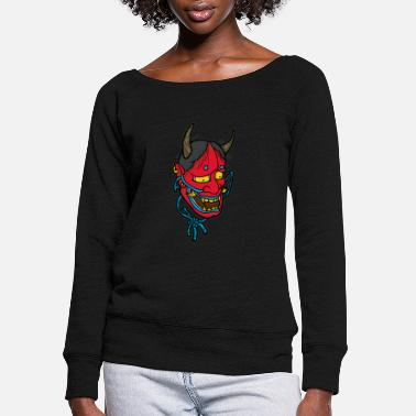 Carneval HANNYA MASK Carneval Masks - Women's Wide-Neck Sweatshirt