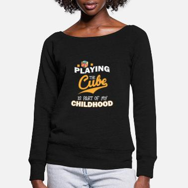 Zauberwürfel Playing The Magic Cube - Limited Edition - Women's Wide-Neck Sweatshirt