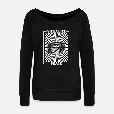 Visualization Visualize Peace - Visualize Peace - Women's Wideneck Sweatshirt