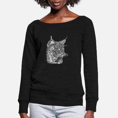 Lynx Lynx - Women's Wide-Neck Sweatshirt