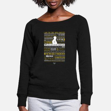 Meth Breaking Bad Typographic - I am the one who knock - Women's Wide-Neck Sweatshirt