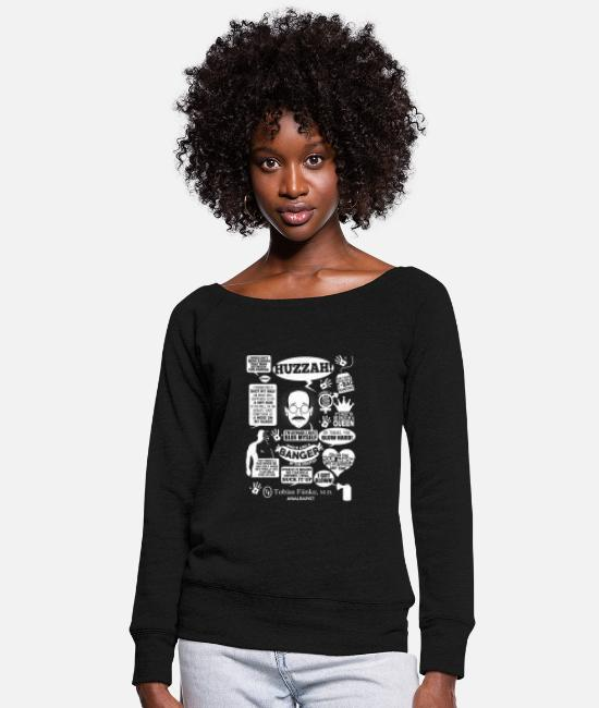 M.d. Hoodies & Sweatshirts - Arrested development - Tobias Funke, M.D - Women's Wide-Neck Sweatshirt black